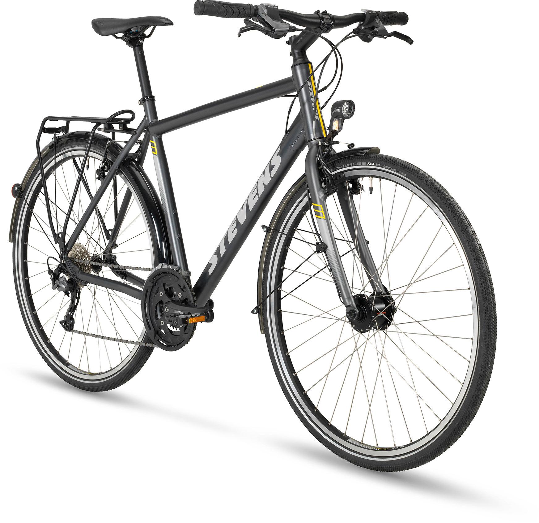 4x Lite Tour Gent Stevens Bikes 2018 Crank Shimano Alivio Touring 26 36 48 T